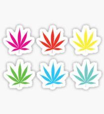 Marijuana Leaf 7 Sticker