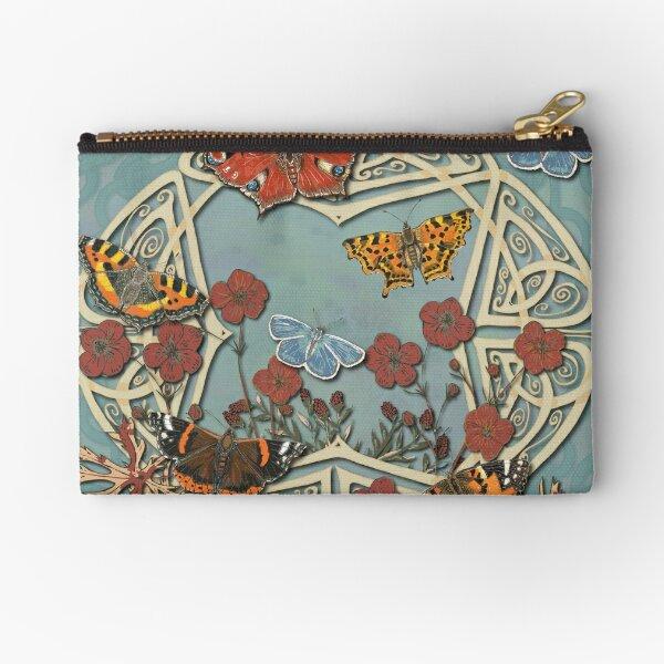 Butterfly Celtic Garden Fantasy Zipper Pouch