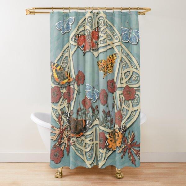 Butterfly Celtic Garden Fantasy Shower Curtain