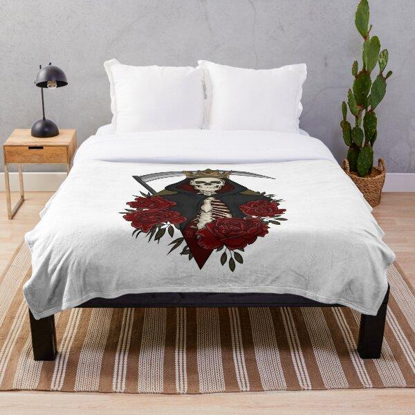 Santa Muerte Throw Blanket