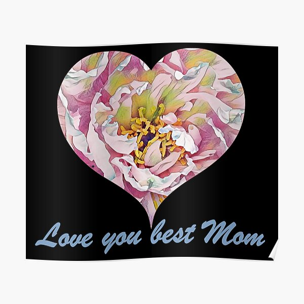 Love you best mom, happy mothers day Poster
