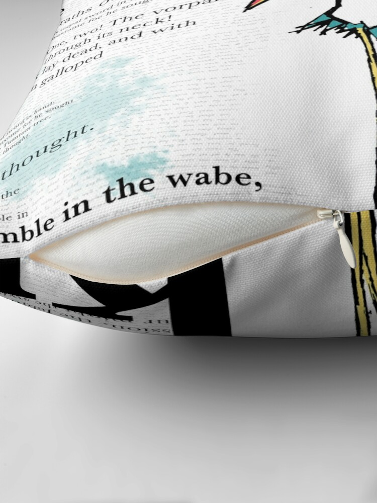 Alternate view of JABBER Series - BOROGOVE Throw Pillow