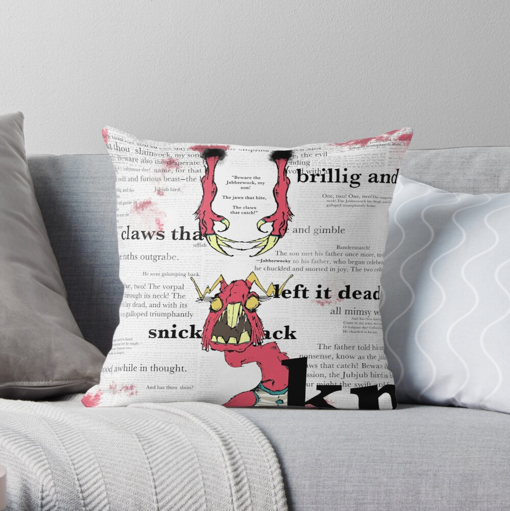 JABBER Series - JABBERWOCKY Throw Pillow
