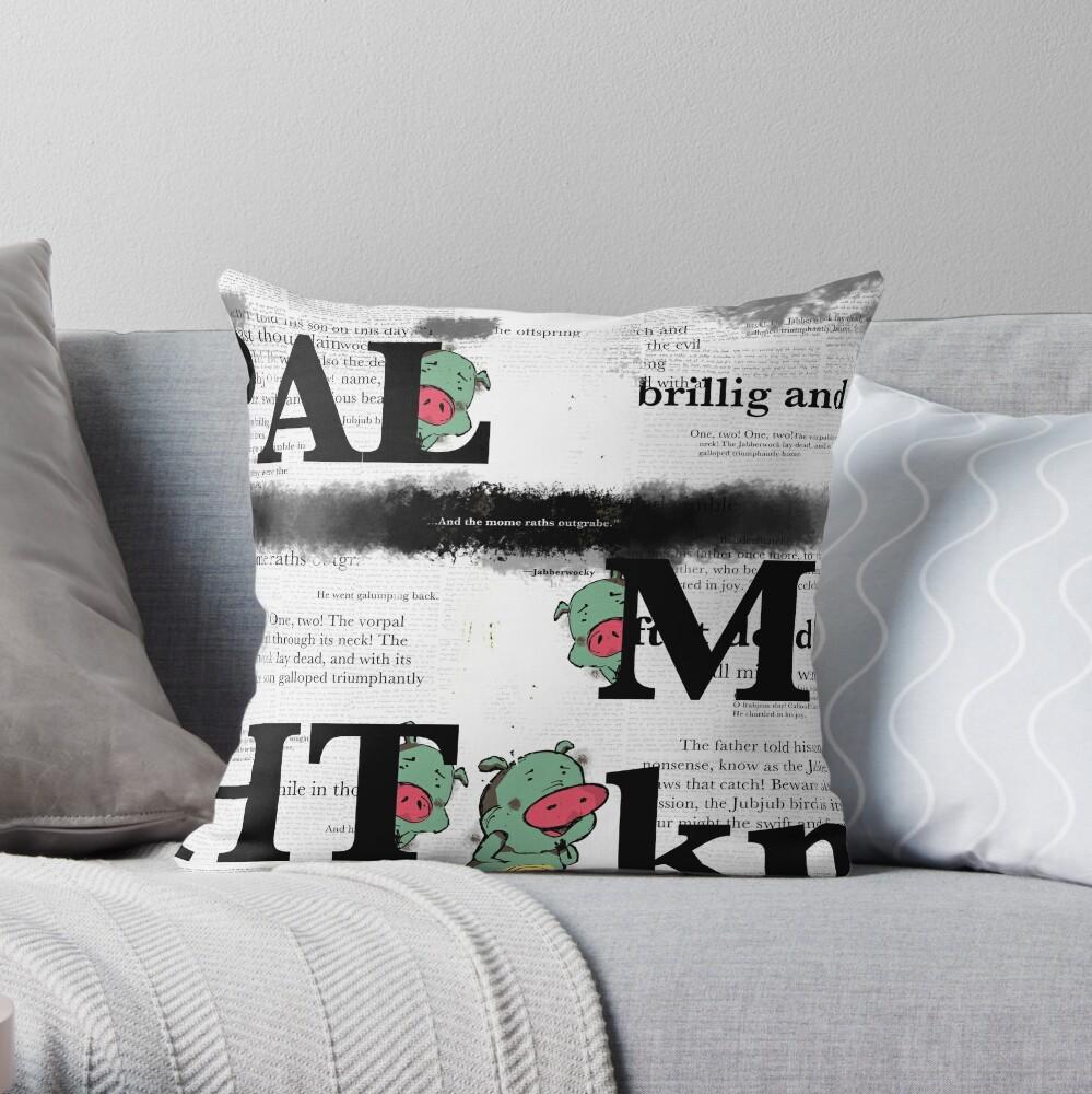 JABBER Series - MOME RATHS Throw Pillow