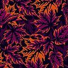 Leaves - Purple/Orange by Andrea Muller