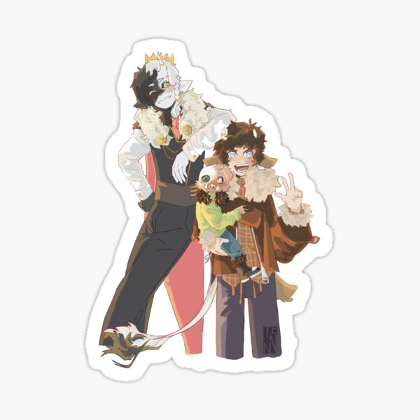 Ranboo, Tubbo and Michael Sticker