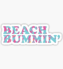 Beach Bumming' - Colorful Waves Sticker