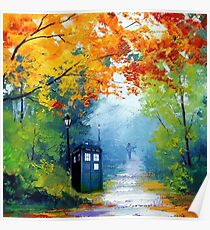 Tardis Oil Painting Poster