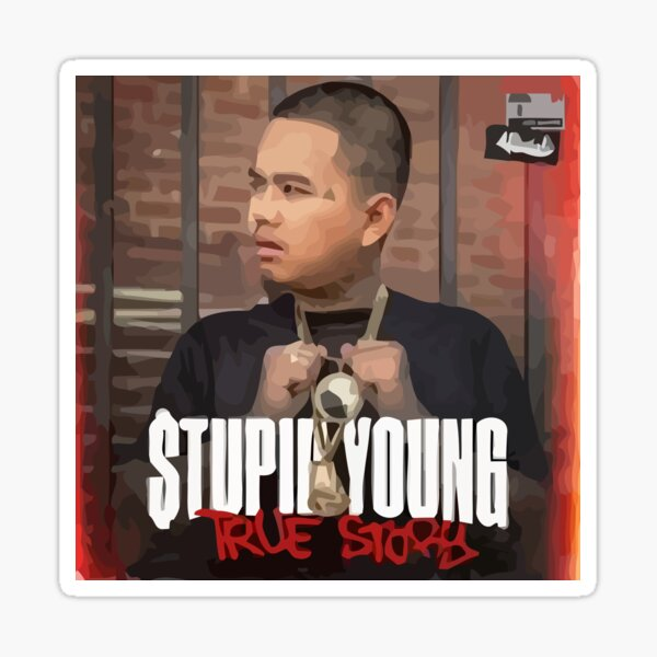 STUPID YOUNG SKETCH T-SHIRT Sticker