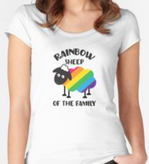 Rainbow Sheep Of The Family LGBT Pride Women's Fitted Scoop T-Shirt