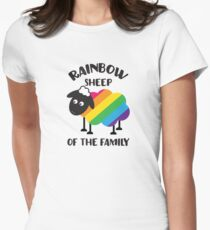 Rainbow Sheep Of The Family LGBT Pride Women's Fitted T-Shirt