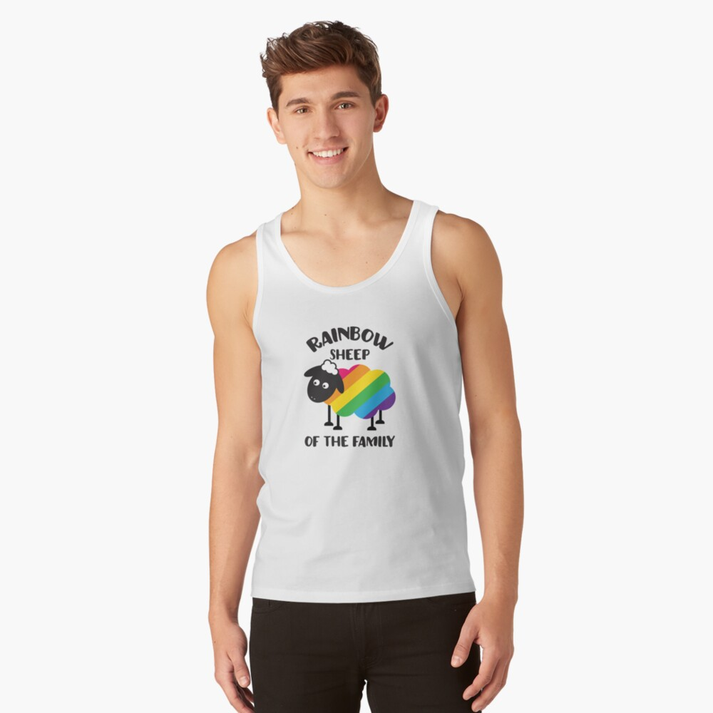 Rainbow Sheep Of The Family LGBT Pride Tank Top