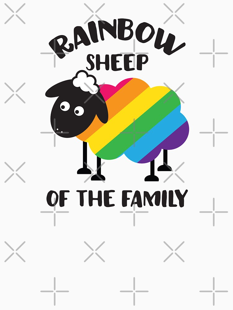 TShirtGifter presents: Rainbow Sheep Of The Family LGBT Pride | Classic  T-Shirt