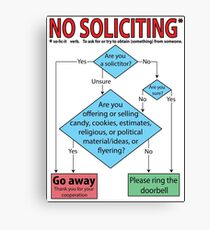 No Soliciting (flowchart) Canvas Print