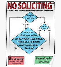 No Soliciting (flowchart) Poster
