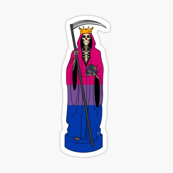 Santa Muerte LGBTQ Statuette Sticker