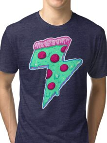 Thunder Neon Pizza Tri-blend T-Shirt