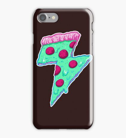 Thunder Neon Pizza iPhone Case/Skin