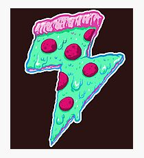 Donner Neon Pizza Fotodruck