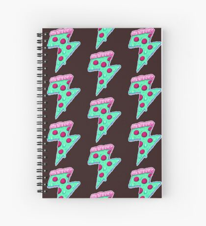 Thunder Neon Pizza Spiral Notebook