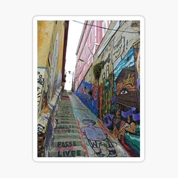 A Lane in Valparaiso Sticker