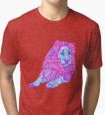 Purple Lined Lion Tri-blend T-Shirt