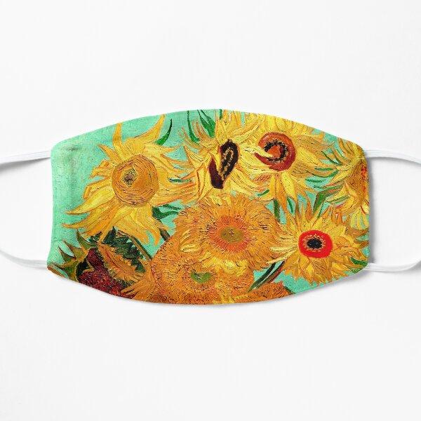 Sunflowers (12 Flowers) by Vincent van Gogh Flat Mask