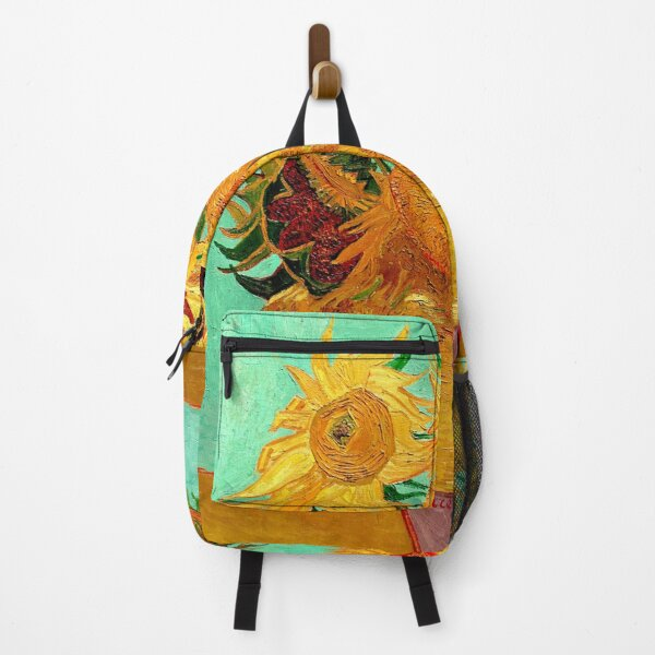 Sunflowers (12 Flowers) by Vincent van Gogh Backpack