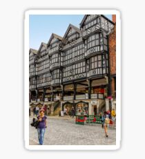 Shopping in Chester, England Sticker