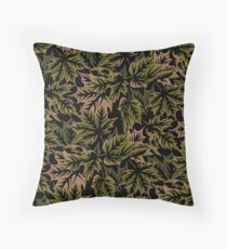 Leaves - Dull Green Throw Pillow
