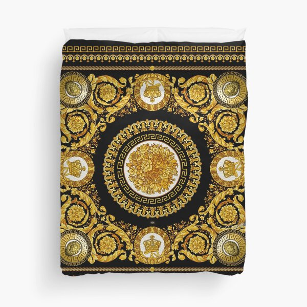 LUXURY Golden Baroque Design Duvet Cover