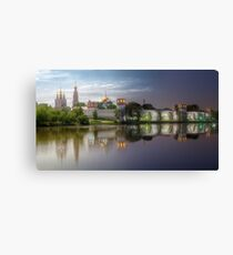 Day to night at Novodevichy convent Canvas Print