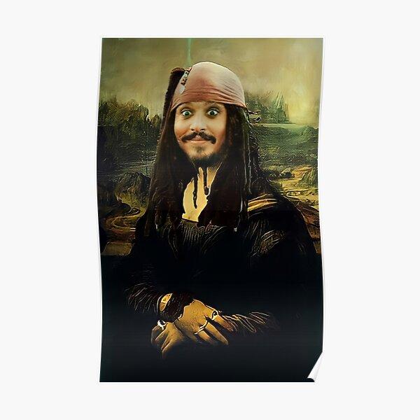 Jack Sparrow dans le rôle de Mona Lisa Poster