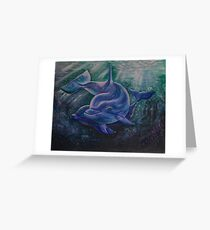 Dolphin - Spirit Animal Art Greeting Card