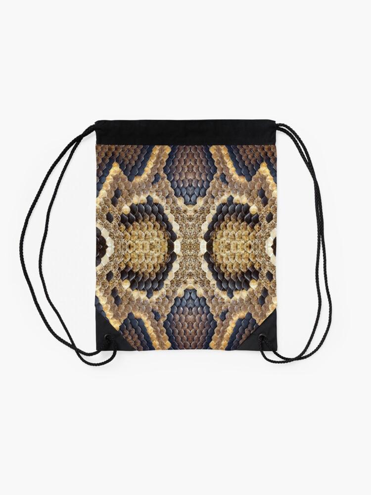 Alternate view of Brown Snake Skin Drawstring Bag