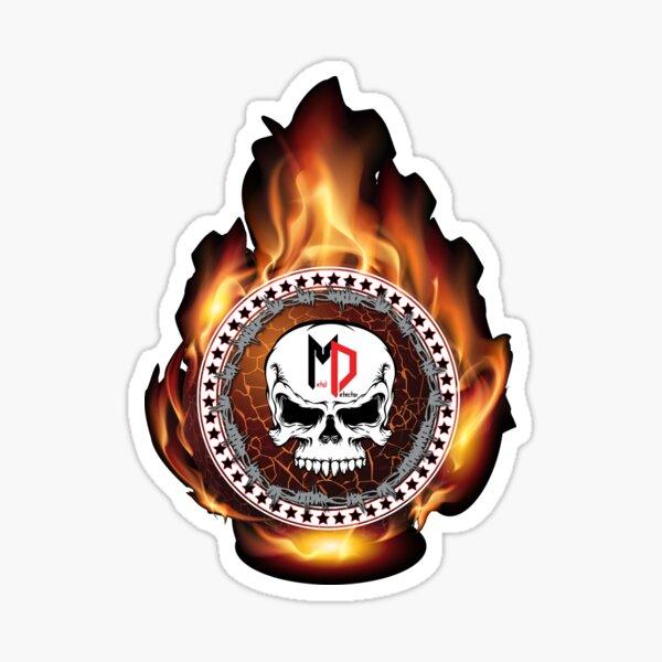 Metaldetector Flames Sticker