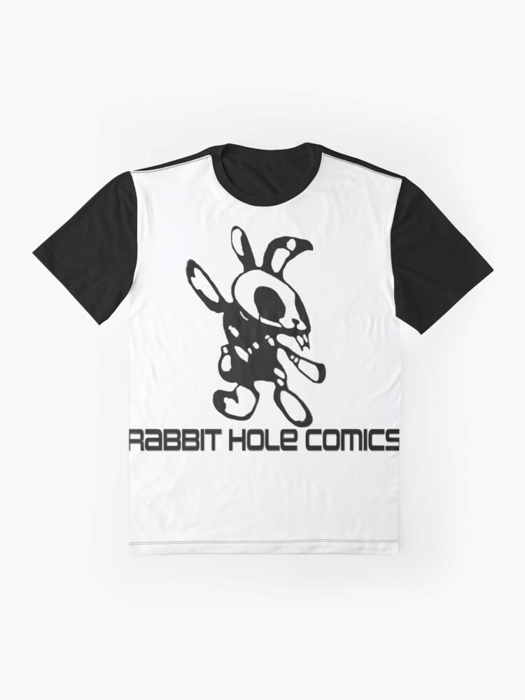 Alternate view of Rabbit Hole Comics  Graphic T-Shirt