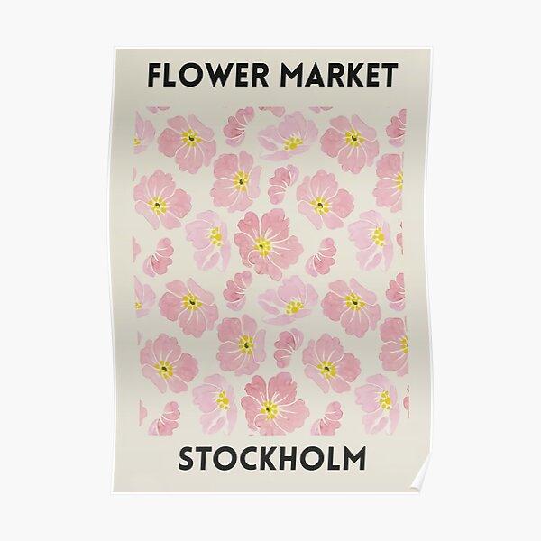 Flower Market Stockholm Poster