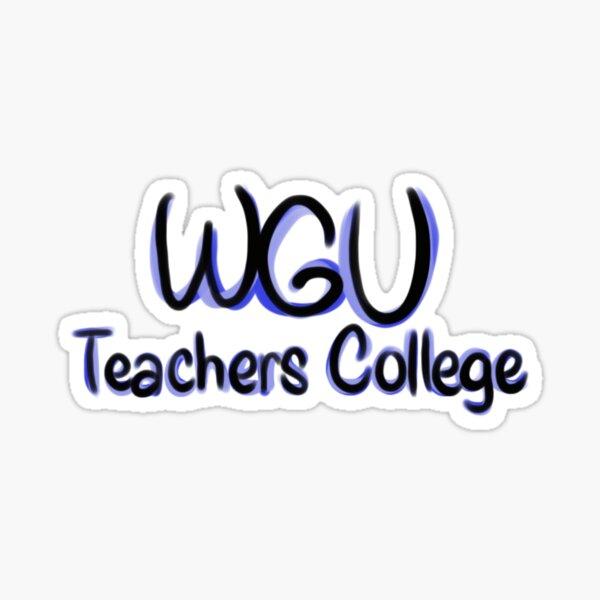 WGU Teachers College Sticker