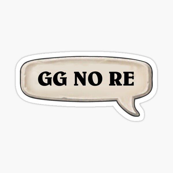 GG KEINE RE Sticker