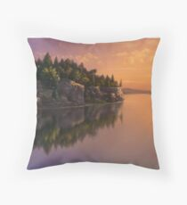 Stone Hill Landscape Throw Pillow
