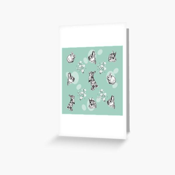 Le petit lapin de Pâques et Magnolia Carte de vœux