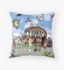 Studio Ghibli Tribute II Throw Pillow