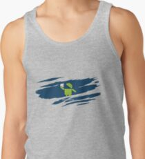ANDROID EATS APPLE ! Tank Top