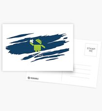 ANDROID EATS APPLE ! Postcards