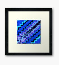Blue Tranquil Waves Framed Print