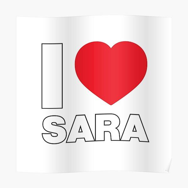 La amo, mujer niña hija nombre Sara Póster