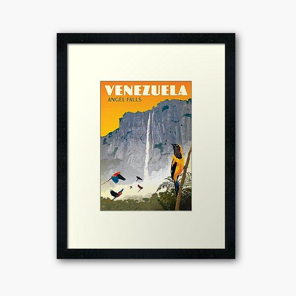 Old Venezuela Tourism Poster Framed Art Print