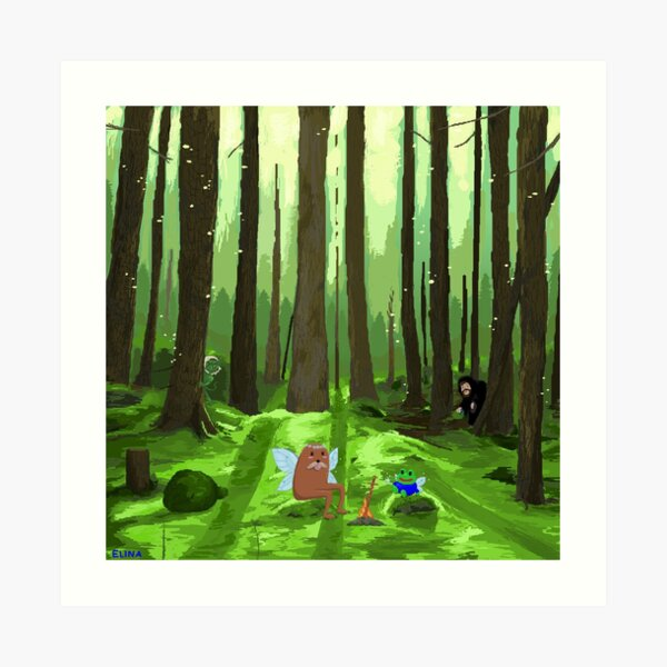 Twitch Meme Forest with Nymn Forsen Art Print
