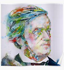RICHARD WAGNER - watercolor portrait.3 Poster
